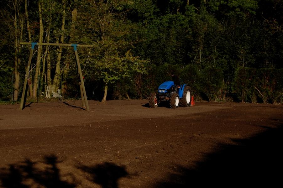 passage travail du sol avant engazonnement